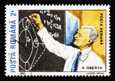 Tysk fysiker och tekniker Hermann Julius Oberth, utrymme Pione fotografering för bildbyråer