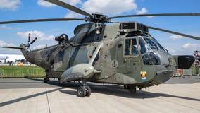 Tysk helikopter för marinSikorsky S-61 Sea King räddningsaktion Royaltyfri Bild