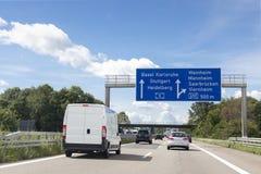 tysk huvudväg för effektexponering long royaltyfri foto