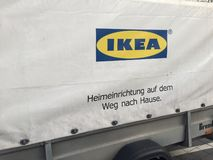 Tysk Ikea annonsering arkivbild