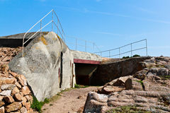 tysk jersey för atlantisk bunker vägg Arkivbilder