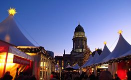Tysk julmarknad Berlin Germany Arkivbilder