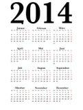 Tysk kalender 2014 Arkivbilder