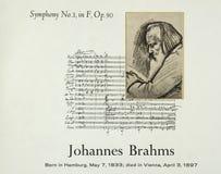 Tysk kompositör Johannes Brahms royaltyfri bild