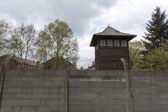 Tysk koncentrationsläger Auschwitz Arkivfoton