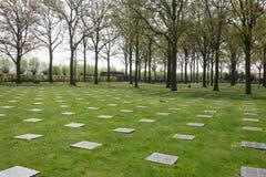 Tysk krigkyrkogård av Langemark Arkivbild
