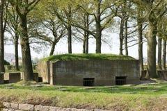 Tysk krigkyrkogård av Langemark Royaltyfria Bilder