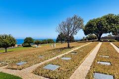 Tysk kyrkogård, Maleme, Grekland fotografering för bildbyråer