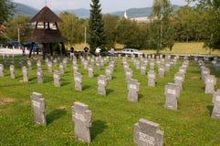 Tysk kyrkogård på Zborov - Slovakien fotografering för bildbyråer