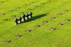 tysk kyrkogårdnormandie Arkivbilder