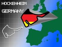 Tysk löparbana Arkivfoton