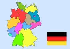 tysk landsöversikt Royaltyfri Foto