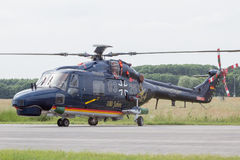 Tysk marinlodjurhelikopter Royaltyfri Bild
