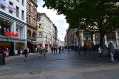 Tysk marknadsplatsWiesbaden Tyskland Arkivbild