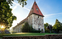 Tysk medeltida kyrka arkivfoton