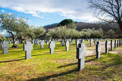 Tysk militär kyrkogård Royaltyfri Foto