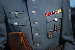 tysk militär uniform wwii Royaltyfri Fotografi