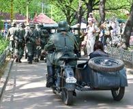 tysk motorbikesoldat royaltyfri foto