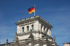 tysk national för flagga Arkivbilder