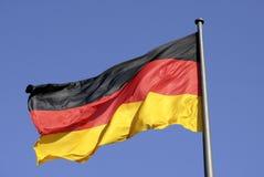 Tysk nationsflagga i Berlin Arkivfoton