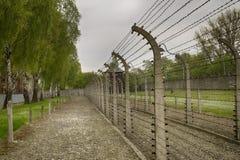 Tysk nazistkoncentrationsläger Auschwitz-Birkenau i Polen Royaltyfri Bild