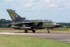 Tysk nivå för kämpe för flygvapenPanavia tromb Arkivfoto