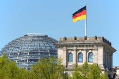 Tysk parlament, Bundestag i Berlin Fotografering för Bildbyråer