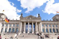 Tysk parlament Bundestag i Berlin, Tyskland Arkivbilder