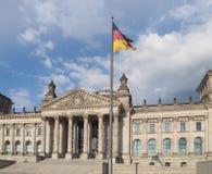 tysk parlamentreichstag för byggnad Fotografering för Bildbyråer