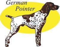Tysk pekarevektorillustration stock illustrationer