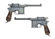 Tysk pistol c96 fotografering för bildbyråer
