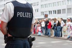 tysk polis Fotografering för Bildbyråer
