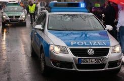 tysk polis för bilar Royaltyfria Foton