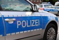 tysk polis f?r bil arkivbild