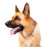 Tysk Shepard hund royaltyfri illustrationer