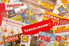 Tysk skräpreklam Fotografering för Bildbyråer