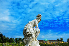 Tysk slott Sanssouci, Potsdam, nära Berlin Royaltyfria Bilder