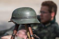 Tysk soldathjälm Royaltyfria Foton