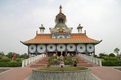 Tysk tempel i Lumbini Arkivbild