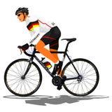 Tysk vägcyklist Arkivbild