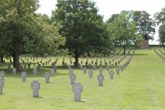 Tysk WW1 kyrkogård, Rancourt, Frankrike Royaltyfria Foton