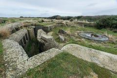 Tyska bunker av Longues sur Mer france normandy Arkivbilder