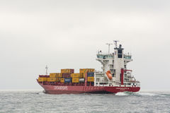 Tyska containershipContainerships VI Royaltyfria Bilder