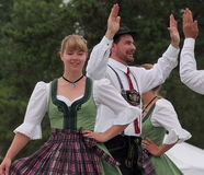 Tyska dansare Arkivfoton