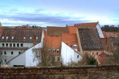 Tyska gamla hus Royaltyfri Fotografi