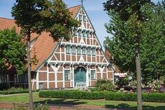 tyska hus Arkivfoto