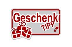 Tyska julförslag märker royaltyfri illustrationer
