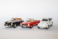 3 tyska klassiska bilar Royaltyfri Foto