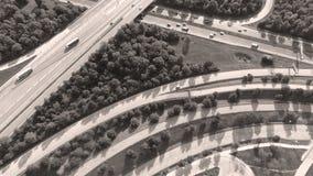 Tyska motorways som ses från över royaltyfri foto