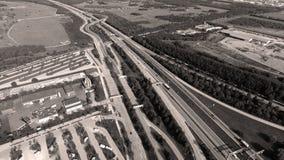 Tyska motorways som ses från över royaltyfria bilder